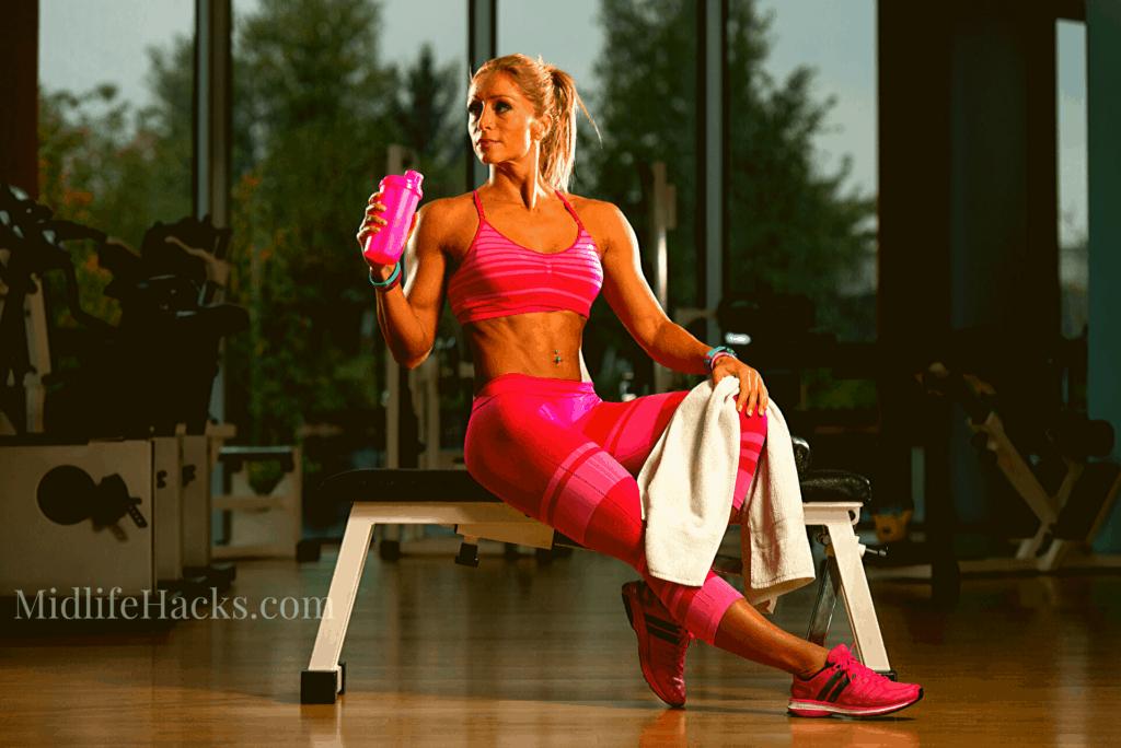 Woman finished exercising