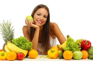 woman choosing her 5 a day