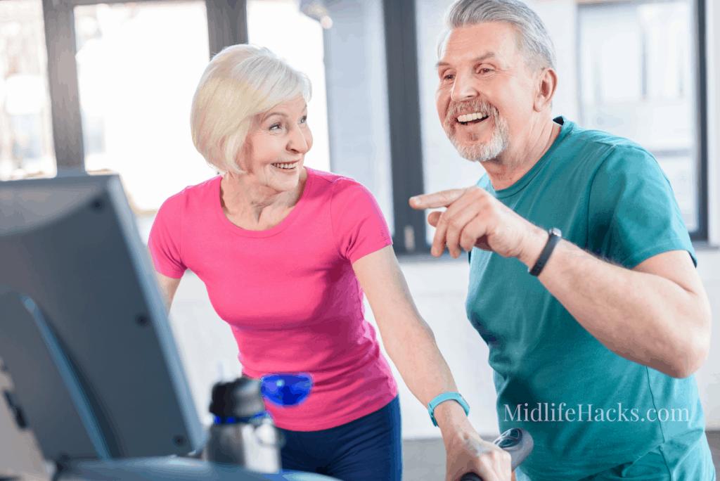 seniors on treadmill
