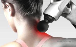 massage with percussion massage gun