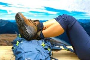 Best rucking boots worn resting on rucksack
