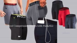 Collage of 5 best men's compression shorts with pocket